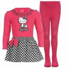 Hello Kitty Character Kids Girls Printed Kitty Drs Set Chd Dress Children