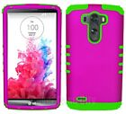 Dark Pink Green Protective Impact Phone Case for LG G3 Hybrid Cover KoolKase
