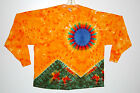 Adult Long Sleeve 5X 6X TIE DYE Scarlet Fire T-Shirt Grateful Dead hippie art