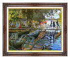 Framed Art Print Claude Monet Bathers at La Grenouillere Painting Reproduction