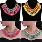 Hot Fashion Gold Chain Resin Drop Knit Rope Collar Choker Statement Bib Necklace