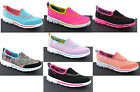 New Girls Kids Skechers Go Walk Comfort Plimsolls Shoes Trainers Pumps Size 8-3