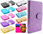 Kyocera Hydro Life C6530 Premium Bling Diamond Wallet Flip Cover + Screen Guard