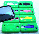 Samsung Galaxy S4 Phone Cover Case PRO ARMOR GREEN w / BUILT IN SCREEN PROTECTOR