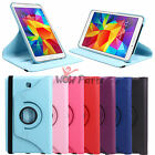 "360 Rotating PU Leather Sleep Case For 8.0"" Samsung Galaxy Tab 4 T330NU T337 New"