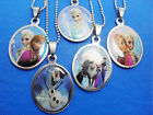 Any Pack Frozen Stainless Steel Necklace Elsa Anna kids children's pendant New