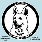 WHITE GERMAN SHEPHERD DOG - PERSONALIZED ALUMINUM LICENSE PLATE or DECAL - #D053