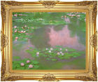 Framed Canvas Giclee Art Claude Monet Water Lilies Giverny Painting Reproduction