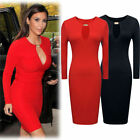 Womens Sexy Boutique Celeb Cut Out Pencil Bodycon Formal Party Dress Size 6 18