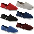 New Mens Unsung Hero Canvas Plimsolls Slip On Plims Espadrilles Trainers UK 6-11