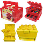 LEGO BRICK STORAGE CARRY CASE PLASTIC BOX TIDY STORE CONTAINER COMPARTMENTS TOY
