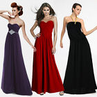 Ladies Elegant Strapless Ruched Bustier Cocktail Party Evening Prom Maxi Dress