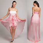 Luxury Tencel Wedding Sheath Strapless Fishtail Train Prom Mini Dress Fairy Gown