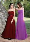 NEW Donna Bella Formal Designer Embellished Maxi Chiffon Evening Dress