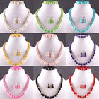 Free Shipping Multi-color Pearl Round  Beads Necklace Bracelet Earrings Jewelry