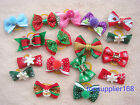 Handmade Dog grooming hair bows cat puppy pets Christmas gift Accessories c#7