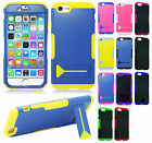 For Apple iPhone 6 / 6s Hybrid Silicone Rubber Skin Case KickStand Phone Cover