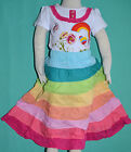 NEW Girl Flower Rainbow two pieces Top & Skirt sets sizes 1,2,3,4,5,6,8,10