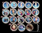 Princess 20mm Rhinestone Crystal Cluster Craft DIY bow center Button Flatback