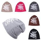 Winter Warm Ski Skull Hat Unisex Men/Women Letters Print Slouch Beanie Cap New