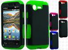 For Verizon LG Optimus Zone 2 Hybrid Silicone Rubber Skin Case Hard Phone Cover