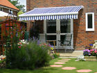 4m Full Cassette Manual Garden Patio Awning Sun Canopy Shade Retractable Shelter