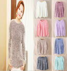 New sweater lady long Round in Knitwear cardigan mohair sweaters