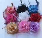 wholesale Feather simulation sequins rose clip brooches Hair Wrist Wedding dance