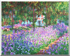 Stretched Fine Art Print The Artist's Garden in at Giverny by Claude Monet Repro