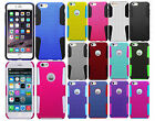 For Apple iPhone 6 Plus 5.5 MESH Hybrid Silicone Rubber Skin Case Phone Cover