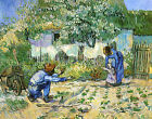 Art Prints on Canvas First Steps Vincent van Gogh Painting Reproduction Artwork