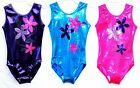 Age 3-12 *Florence* Girls Gymnastics leotard Flowers/Diamante 24,26,28,30,32