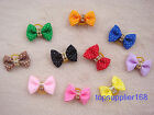 Handmade Pet cat bows Grooming Accessories Mixed Hair Bow Dog Rubber Band #a22