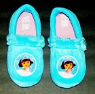DORA the EXPLORER NICKELODEON Plush Faux-Fur Slide-On Slippers NWT Girls Size 11