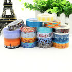 New DIY Craft Washi Tape Decorative Paper Sticky Adhesive Sticker Free Shipping