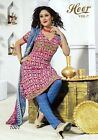 French Crepe Gorgeous Printed Salwar Kameez Indian Dress (Any Sizes)-Heer-7007