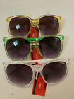Ladies/Mens Fashion Designer copy Sunglasses  with Clear and Coloured Frames
