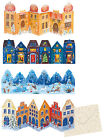 Cut out facade cut out advent calendar cards traditional german design