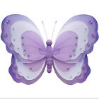 Butterfly Decoration Purple White Garden Bathroom Home Fake Nylon Lavender Decor