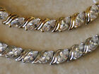 """Marquise CZ Tennis Bracelet Fine Silver Plated or 14k Gold Plated Uncas 7"""""""