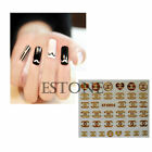 10Pcs 3D Fashion Nail Stick Manicure Water Decal Nail Art Zip Bear Stickers