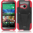 HTC One Remix Advanced Layer HYBRID KICKSTAND Rubber Phone Snap Case Cover