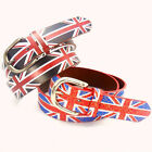 New hot tide british flag printed GP02 Men retro woman graffiti rock punk belts