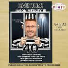 Personalised Prisoner Birthday Party PHOTO Poster N30. A4 or A3 Size ANY AGE