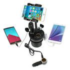Adjustable Car Vehicle Cup Mount Holder w/ Socket & USB Charger For Cell Phone
