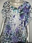 Style & Co NEW Plus Size 1X 2X Black Purple Animal Print Sequined Top NWT$46 K20