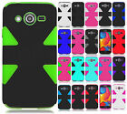 For T-Mobile Samsung Galaxy Avant IMPACT TUFF HYBRID Protector Case Phone Cover
