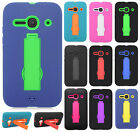 For Alcatel ONETOUCH Evolve 2 IMPACT Hard Rubber Case Phone Cover Kickstand
