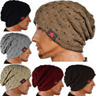 Winter Men Women Knit Beanie Reversible Skull Chunky Baggy Cap Warm Unisex Hat