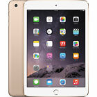 "APPLE iPAD MINI 3 WITH RETINA 64GB Wi-Fi GOLD BRAND NEW ""AUSLUCK"""
